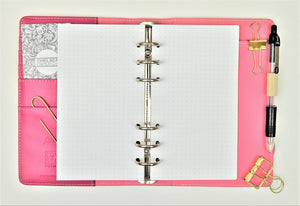 Dot Grid All Sizes PRINTED AND PUNCHED Filofax Luxury Paper Insert, Thick Sheets for Ring Binder inc Malden and Kikki K - 30 Sheets