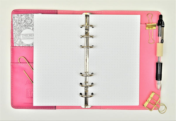 Dot Grid All Sizes PRINTED AND PUNCHED Filofax Luxury Paper Insert, Thick Sheets for Ring Binder inc Malden and Kikki K - 30 Pages