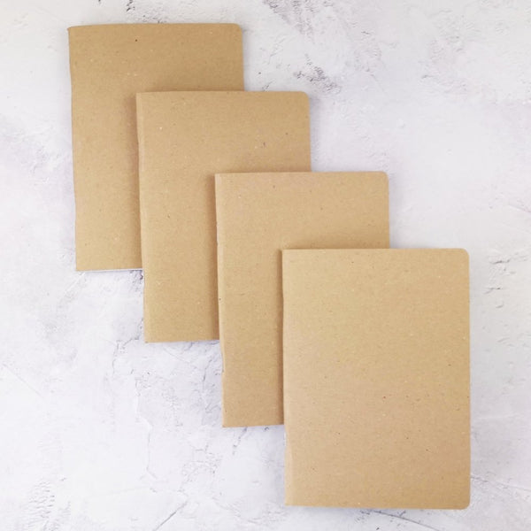 Set of 4 Kraft Cover Traveler's Notebook Inserts - All Sizes and Patterns