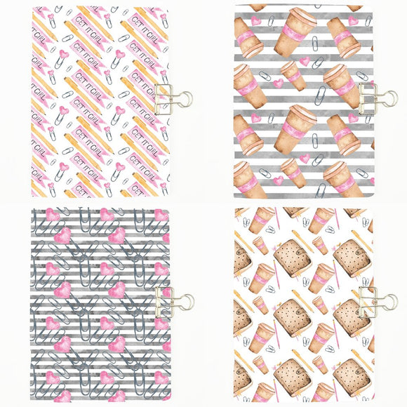 Set of 4 Planner Addict Notebook Inserts - All Sizes and Patterns C107/108/109/110