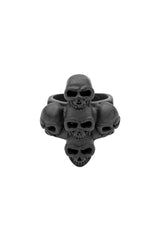 Stacked Skulls Ring