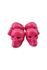 Hot Pink Skull (Metal) Biker Whip Ornament Pack