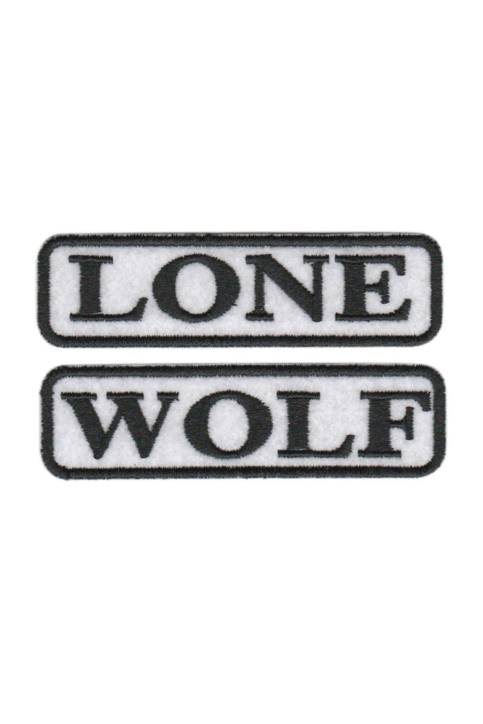 LONE WOLF Text Patches