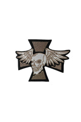 Iron Cross & Skull w/Wings Patch