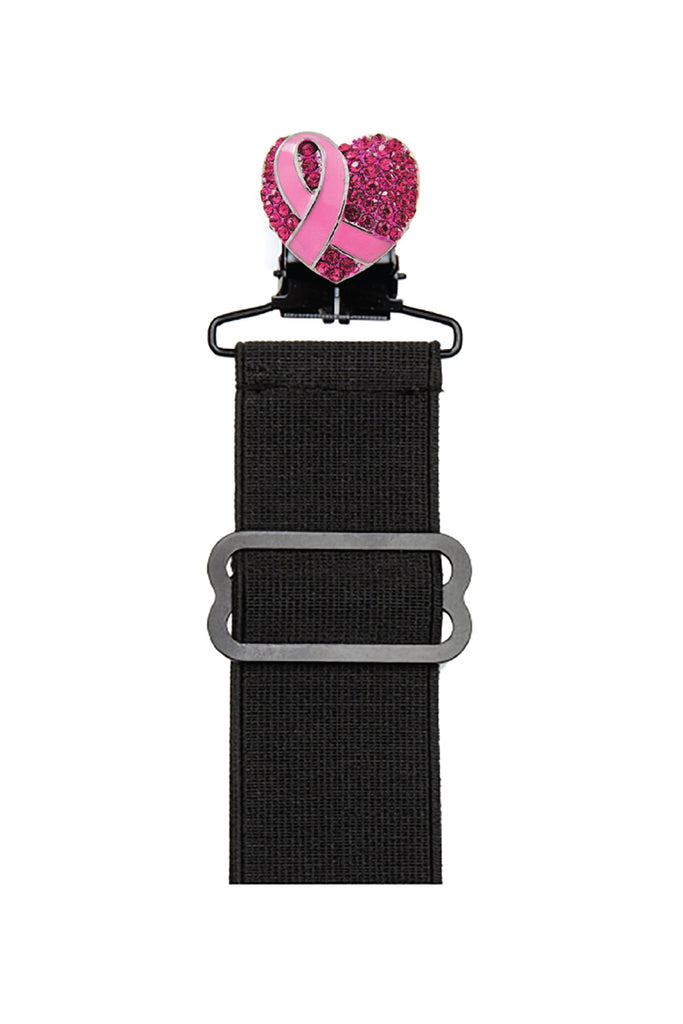 Cancer Awareness w/Gems Boot Stirrup Set