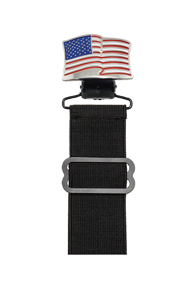 American Flag Boot Stirrup Set