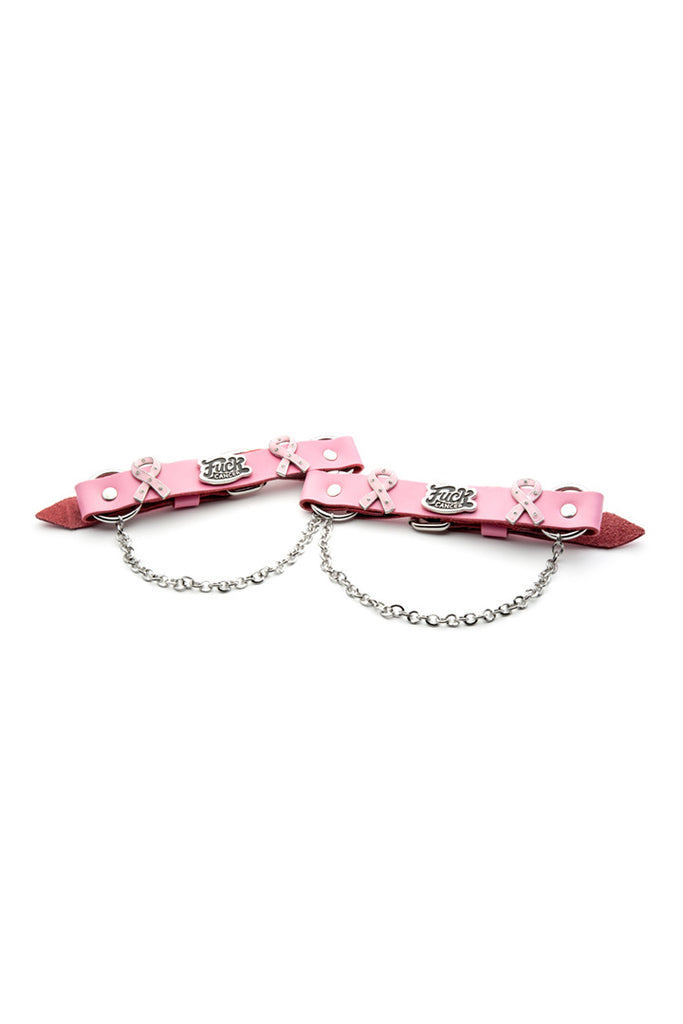 Fight Cancer Boot Bracelet set