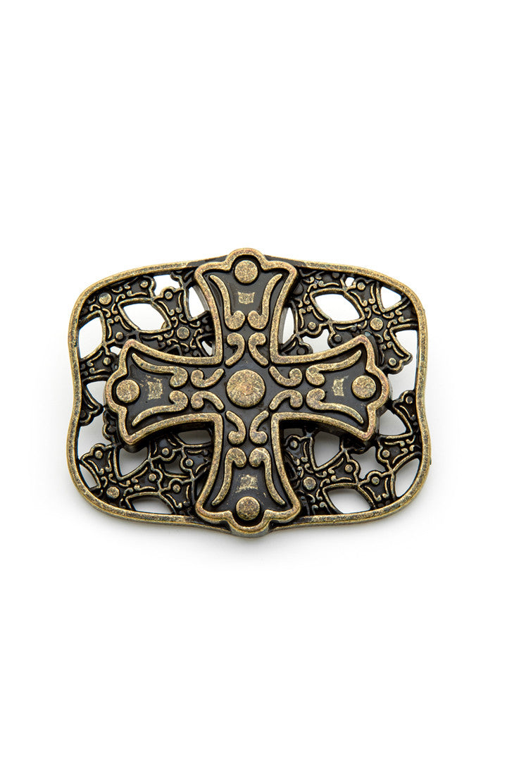 - Belt Buckle - Celtic Cross Belt Buckle - 1