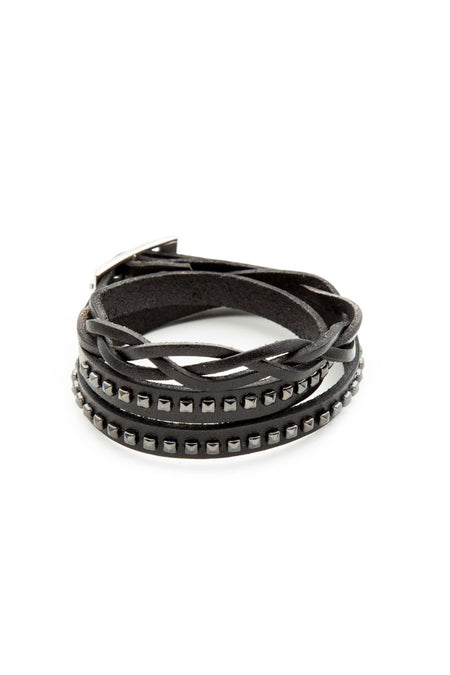 Black - Bracelet - Celtic Triple Wrap Bracelet - 1