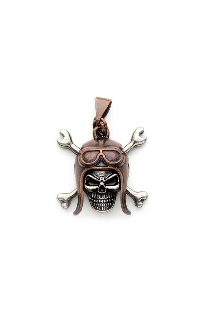 item biker cool necklace silver hot skull gift beautiful jewelry fashion birthday pendant