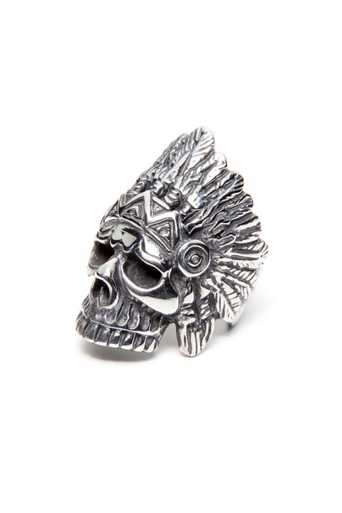 - Stainless Steel Ring - Skull Feathers Ring - 1