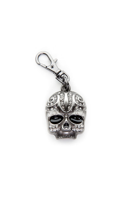 - Jacket Zipper Pull - Tribal Skull Stone Zipper Pull - 1