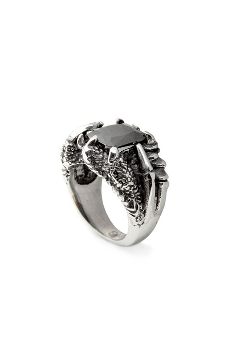 - Stainless Steel Ring - Black Zircon Ring - 2