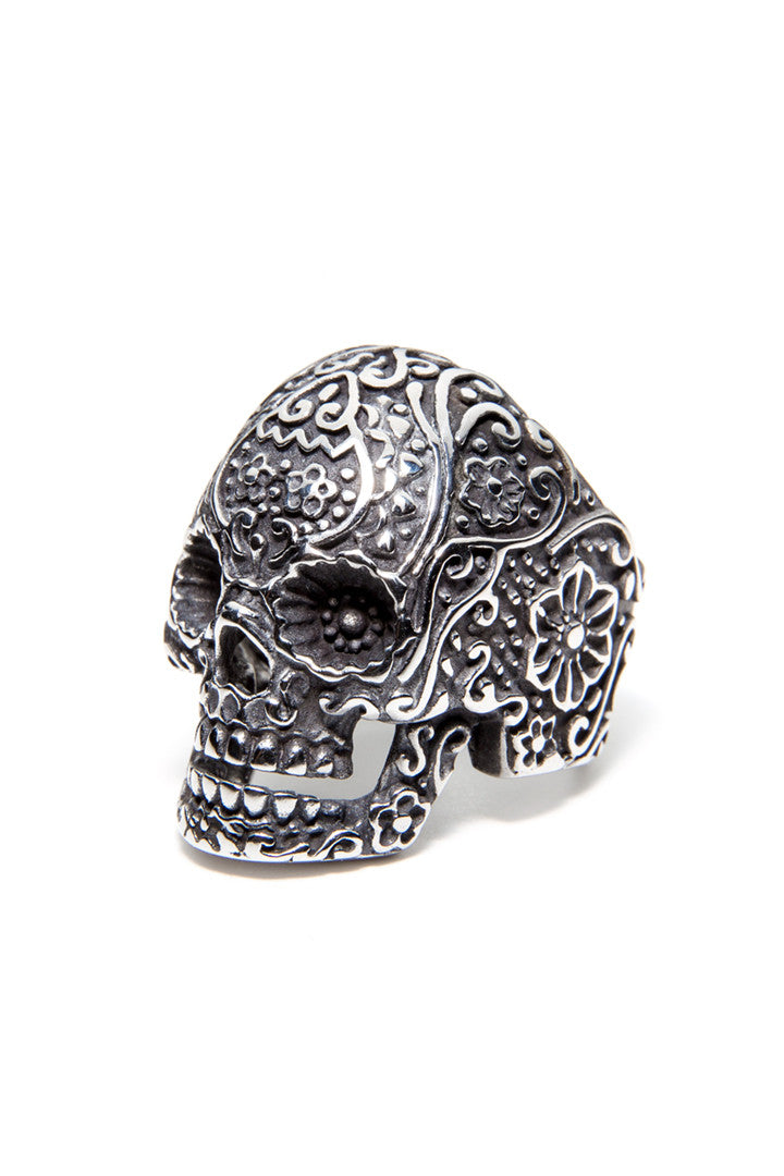 - Stainless Steel Ring - Sugar Skull Ring - 1