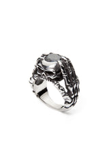 - Stainless Steel Ring - Black Zircon Skull Claws Ring - 5