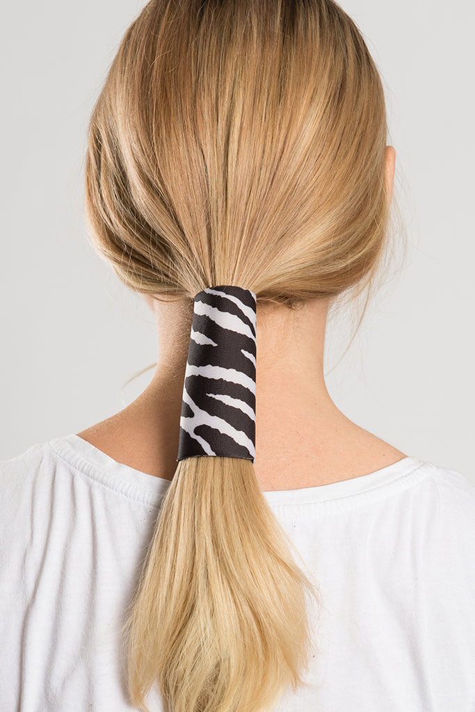Zebra Print Neoprene Hair Glove