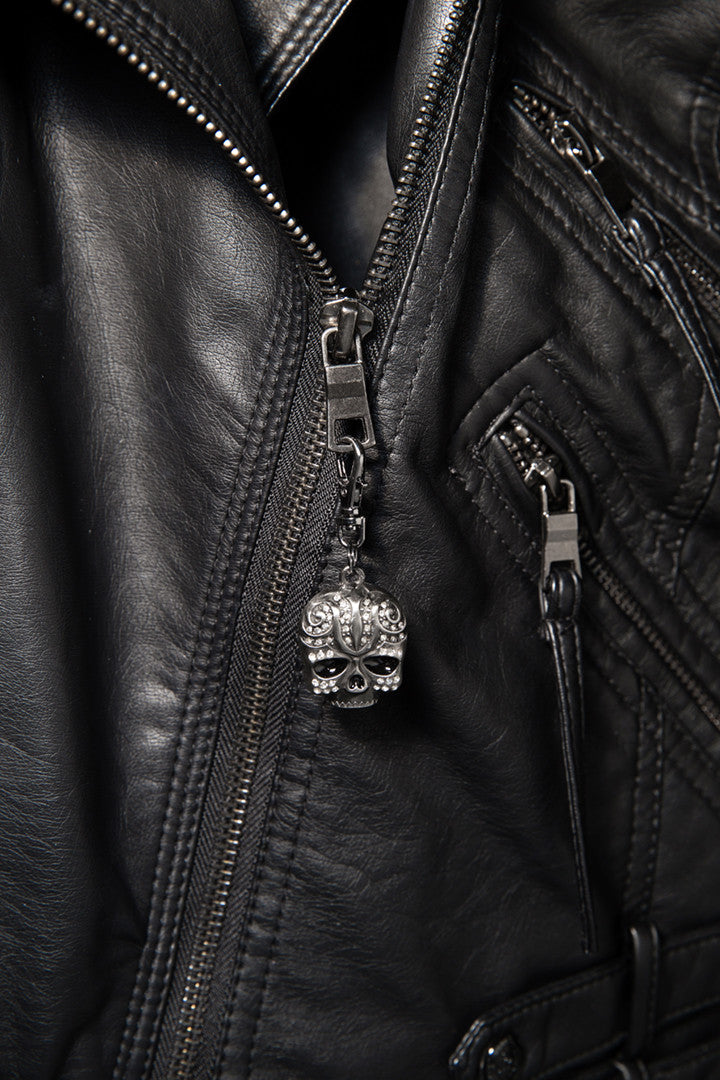 - Jacket Zipper Pull - Tribal Skull Stone Zipper Pull - 2