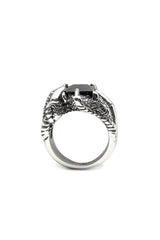 - Stainless Steel Ring - Black Zircon Ring - 3