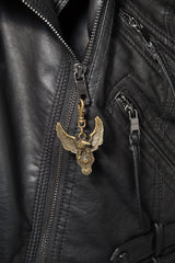 - Jacket Zipper Pull - American Eagle with V-Twin Engine Zipper Pull - 2