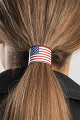 "1.25"" Set RWB USA Flag & USA Flag w/Foil Hair Glove®"