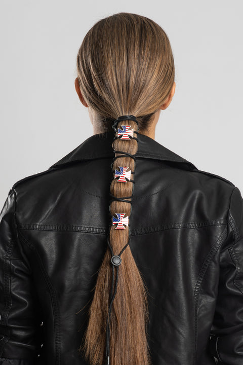 Lace Up USA Biker Cross Concho Hair Glove®
