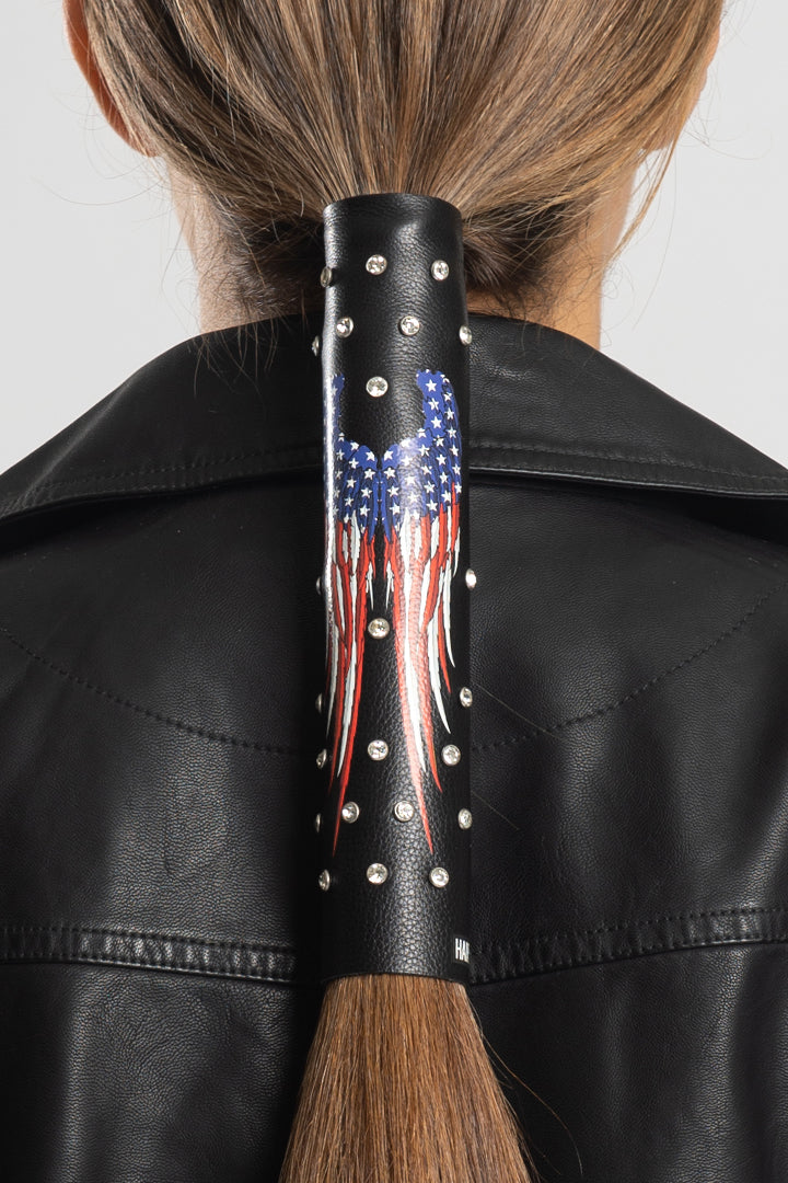 American Flag Wings w/Gems Hair Glove®