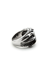- Stainless Steel Ring - Black Zircon Ring - 5