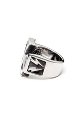- Stainless Steel Ring - Iron Cross with Bolts Ring - 3