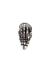 - Stainless Steel Ring - Black Zircon Skull Claws Ring - 4