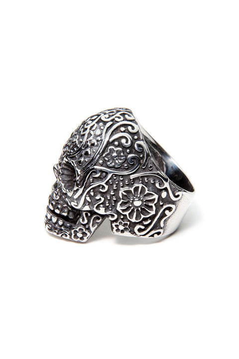 - Stainless Steel Ring - Sugar Skull Ring - 4