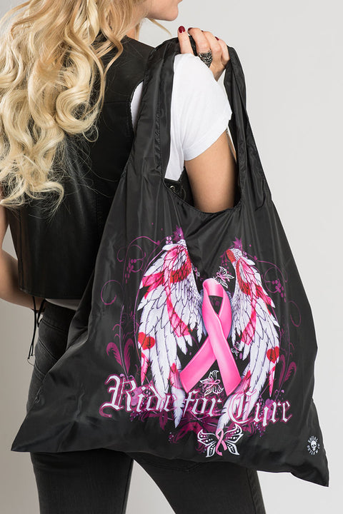 Pink Ribbon, RIDE FOR CURE Recycle Bag