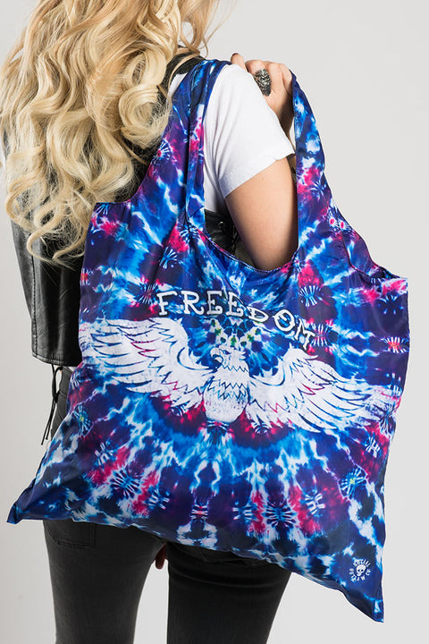 Tie Dye FREEDOM Recycle Bag