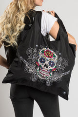 Sugar Skull w/Guns Recycle Bag