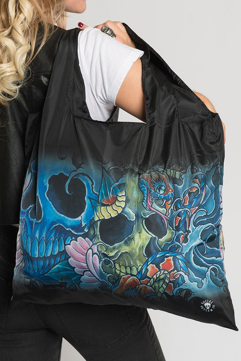 Asian Tattoo Skulls Recycle Bag