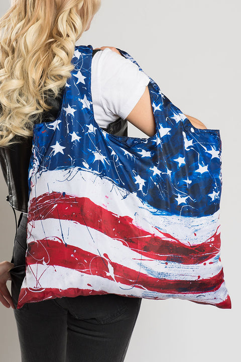 Classic American Flag Recycle Bag
