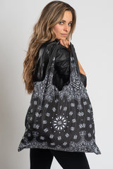 Black Paisley Bandana Recycle Bag