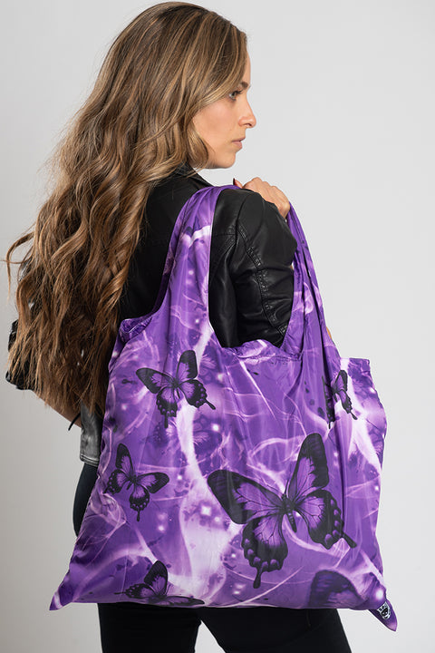 Purple Dreamy Butterfly Recycle Bag
