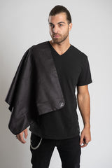 Solid Black Travel Towel