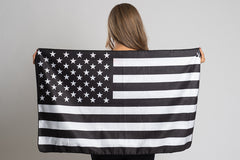 B&W American Flag Travel Towel