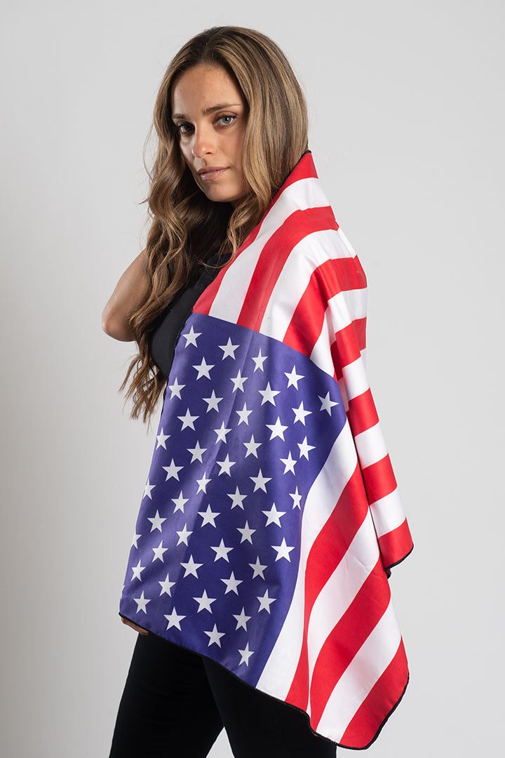 American Flag Travel Towel