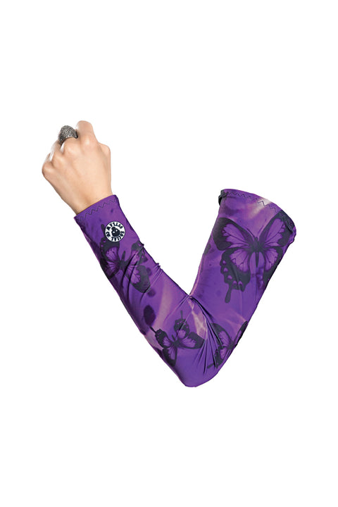 Purple Butterflies Arm Sleevz Soaker