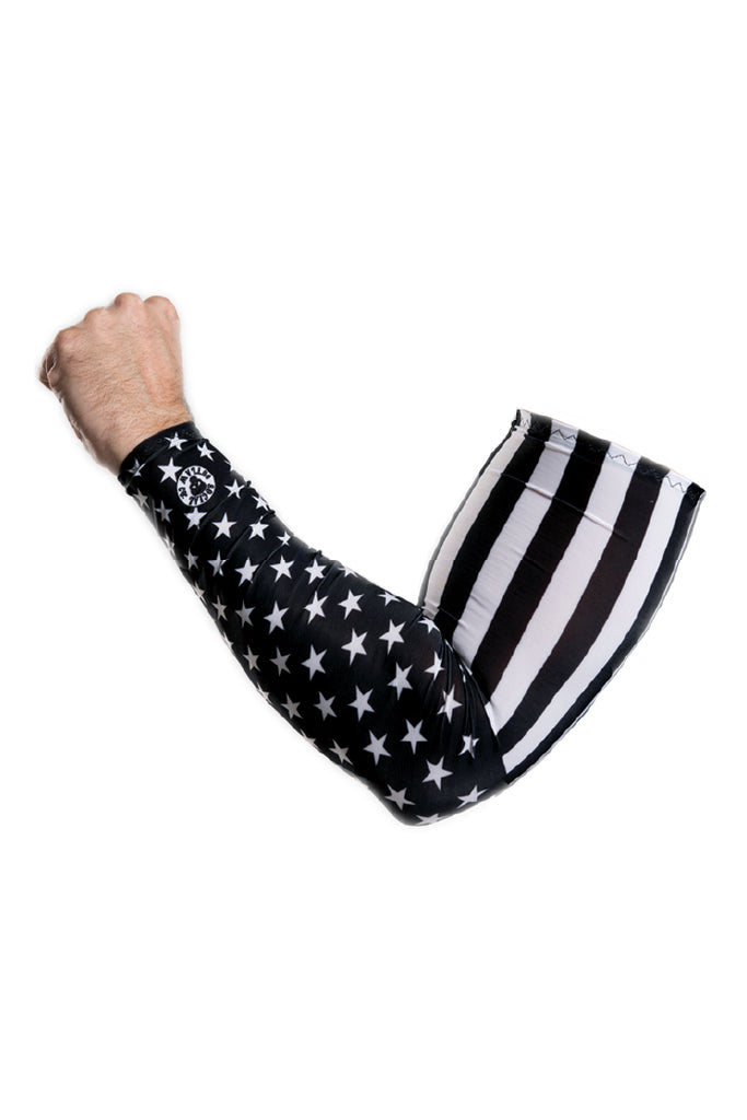 B&W American Flag Arm Sleevz Soaker