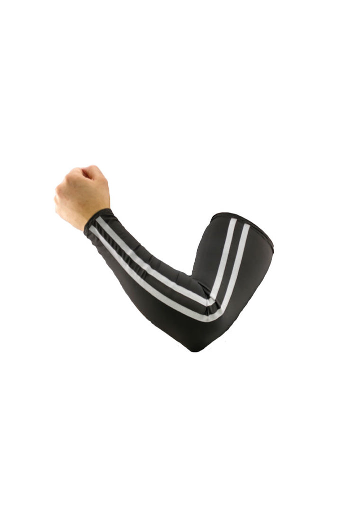 Black Safety Stripes (Light Reflective) Arm Sleevz Soaker