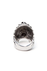 - Stainless Steel Ring - Skull Feathers Ring - 5