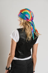 Traditional Tie-Dye Full-Head Wrap