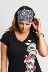 Tribal Skull Paisley Roadie Bandz