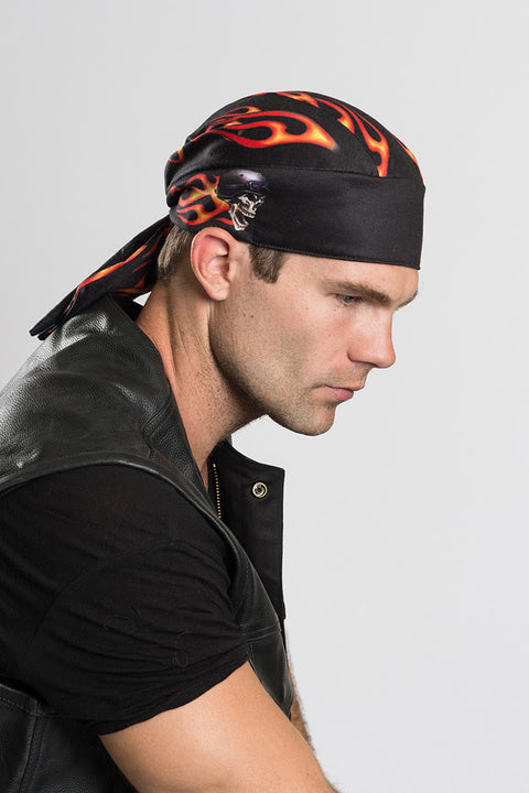 Biker Flames Full-Head Wrap