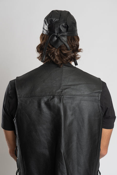 Genuine Leather Full-Head Wrap
