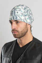 100 Dollar Bill Full-Head Wrap