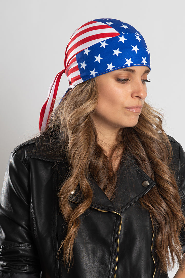 USA Flag Full-Head Wrap